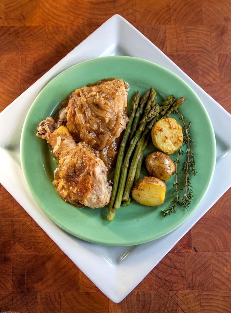 Honey Mustard & Beer Braised Chicken | The Earthy Delights Recipe Blog